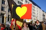 The Belgian heart-flag prototype at the 18 November 2007 demonstration for Belgian Unity