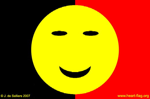 Belgian smiley-flag © Jacques de Selliers, 2007