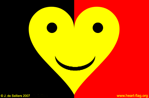 Belgian smiley-heart-flag © Jacques de Selliers, 2007